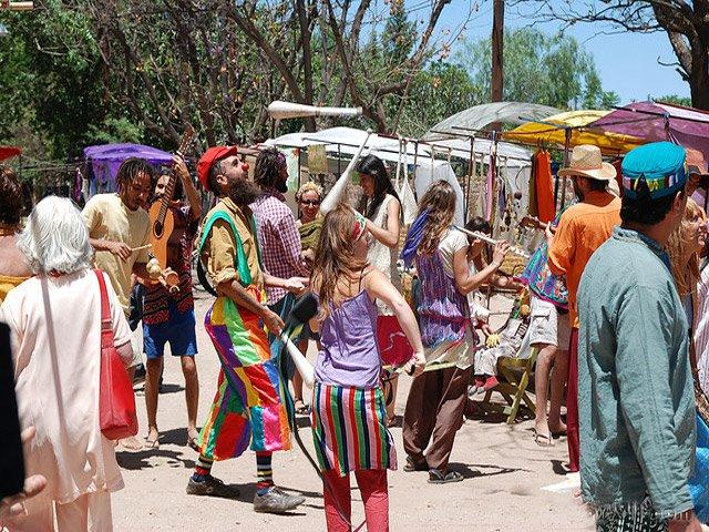 Feria de Artesanos en San Marcos Sierras en el Valle de Punilla